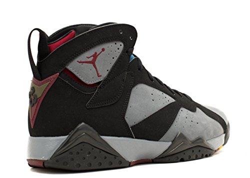 Nike Herren Air Jordan 7 Retro Leder Basketballschuhe Schwarz / Lt Graphit-Bordeaux