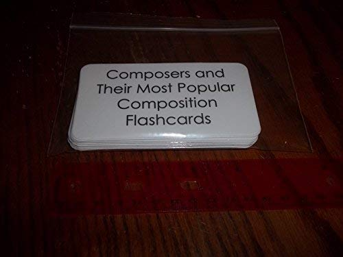Music. Composers and Their Most Popular Composition Picture Word Flash Cards