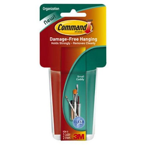 Command Clear Caddy, Small, 1-Caddy, 2-Strips (HOM16CLR-ES)
