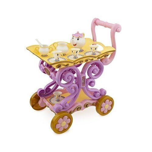 Disney Princess Exclusive Belle Magical Tea Cart Play Set (Tea Magical)
