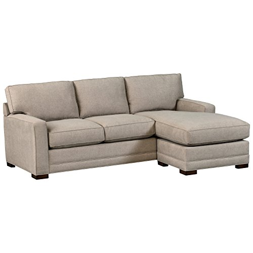 Stone Beam Dalton Chaise Sectional Sofa Couch, 91.5 , Charcoal