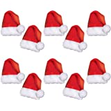 Christmas Party Supply Accessories Santa Hats Pack of 10 Deluxe Christmas Santa CAPS
