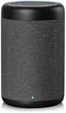 GGMM D6 Power+Cordless Portable Speaker for Dot 2nd Generation, 20W 360-degree Powerful Sound Alexa Speakers, 5200mAh Power Supply for Your Dot (Black)