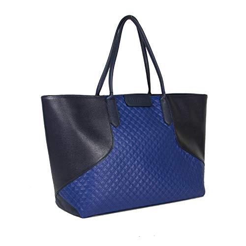 L Claudia Tote Cm H X w Gattabuia Borsa Donna blu notte Multicolore 33x26x16 Elettrico XxzqE6dwng