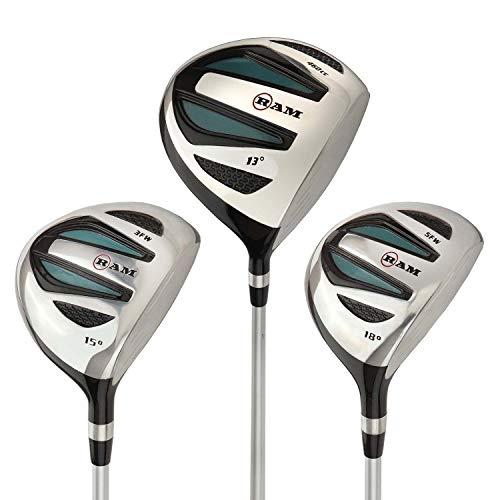- Ram Golf EZ3 Ladies Graphite Wood Set - Driver, 3 & 5 Wood - Headcovers Included