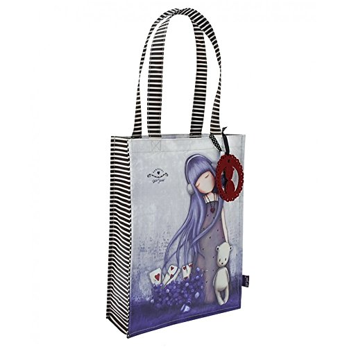 Borsa Shopping Bag Media Gorjuss Dear Alice Viola - 290GJ07