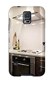 Galaxy S5 Cover Case - Eco-friendly Packaging(kitchen With Dark Stained Wood Cabinets Stainless Appliances Amp White Subway Tile Backsplash)