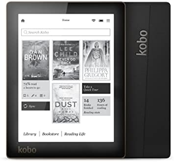 Kobo Aura - Lector de eBooks (CBR, CBZ, ePub, HTML, MOBI, PDF, RTF, TXT, Bluetooth, pantalla táctil, 4 GB,), negro: Amazon.es: Electrónica