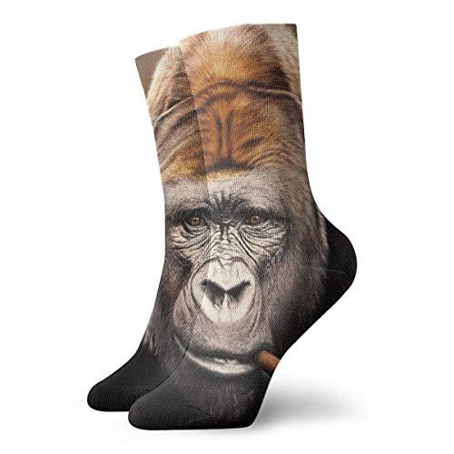 YUANSHAN Socks Monkeys Gorilla Smoking Women & Men Socks Soccer Sock Sport Tube Stockings Length 11.8Inch]()