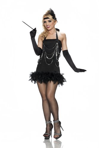 [Delicious All That Jazz Costume, Black, Large] (Jazz Dancer Halloween Costume)
