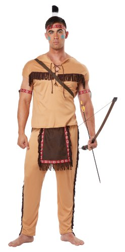 [California Costumes Men's Native American Brave Adult, Tan/Brown, Medium] (Male Indian Costumes)