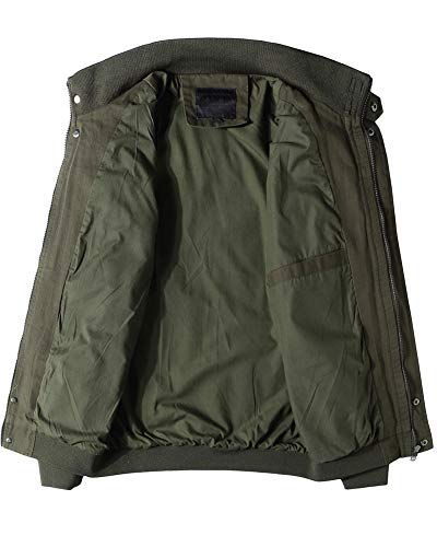 Fit Bomber Militar Casual ejército del Abrigo Hombre Otoño Shaoyao Chaqueta Parka XL Slim Cazadora Verde CqgUv1