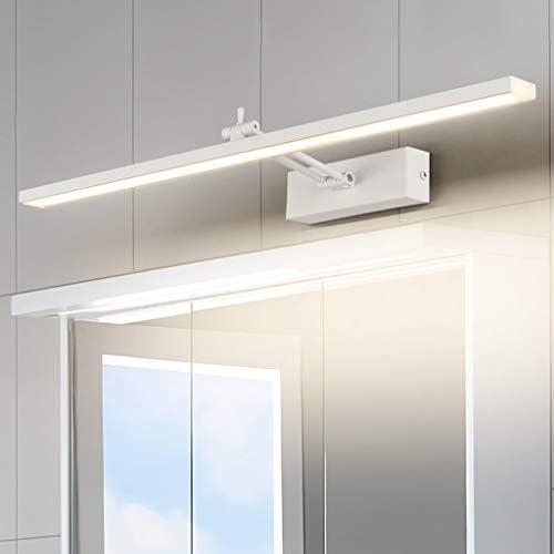 WYZ. Startseite Nordic LED Weiß Spiegel Frontleuchte Kreative Schlafzimmer Badezimmer Hotel Wasserdichte Anti-fog Vanity Make-up-Lampe [Energieklasse A +] (Color : Warm light)