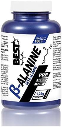 Best Protein BETA ALANINA, aminoacido pre-entreno, 120 cap de ...