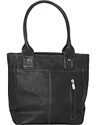 Piel Leather Small Tablet Tote, Black, One Size
