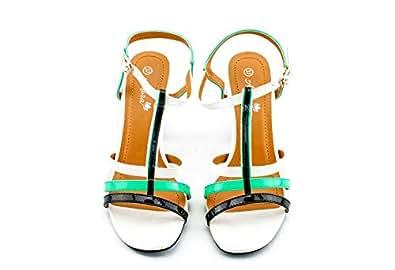 Adora Multi Color Heel Sandal For Women