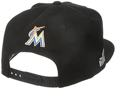 New Era Cap Men's Logo Swipe Miami Marlins Star Wars 9Fifty Snapback Cap, Blue, One Size