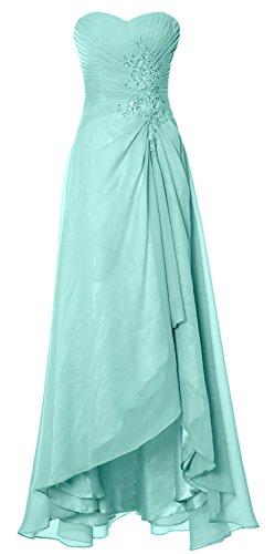 MACloth Elegant Hi Lo Simple Prom Dress Strapless Wedding Party ...