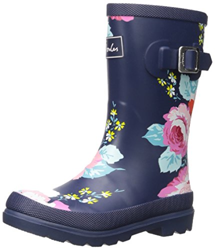 Joules Girls Printed Welly Rain Boot, Grey Floral, 10 M US ()