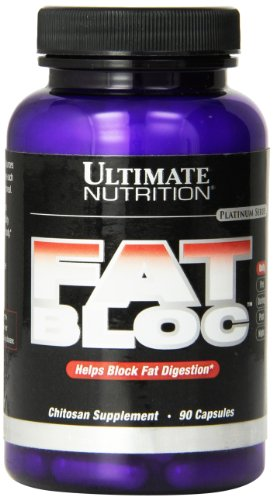 Chitosan Fat Burner - Ultimate Nutrition Fat Bloc Chitosan, 90 Capsule Bottle