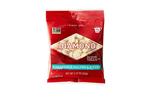 Diamond of California, Chopped Macadamias, Non GMO, No Added Salt, 2.25 Ounce (Pack of 12)