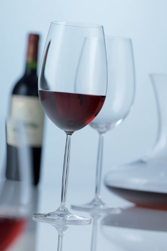 Schott Zwiesel Tritan Crystal Glass Diva Stemware Collection Claret/Bordeaux Goblet, Red Wine Glass, 26-Ounce, Set of 6 by Schott Zwiesel (Image #1)'