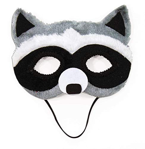 Raccoon Animal Fancy Eye Mask Adult Child Faux Fur Half Costume Accessory ()
