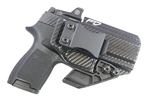 Fierce Defender IWB Kydex Holster Sig P320c RX w/Optic Cut The Paladin Series -Made in USA- (Carbon Fiber)