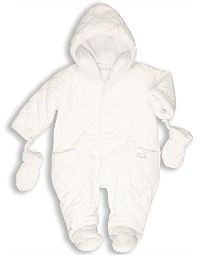The Essential One Baby Quilted Snowsuit Pram 9-12 months White by The Essential One