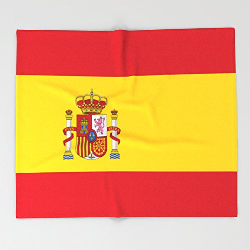 Society6 Flag of spain Throw Blankets 88'' x 104'' Blanket by Society6
