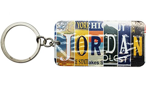 Price comparison product image Multi-State License Plate Name Charm Keychain: Jordan - By Ganz