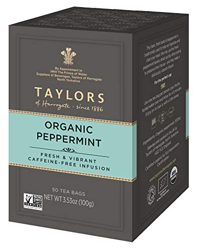 (Taylors of Harrogate Organic Peppermint Herbal Tea, 50 Teabags)