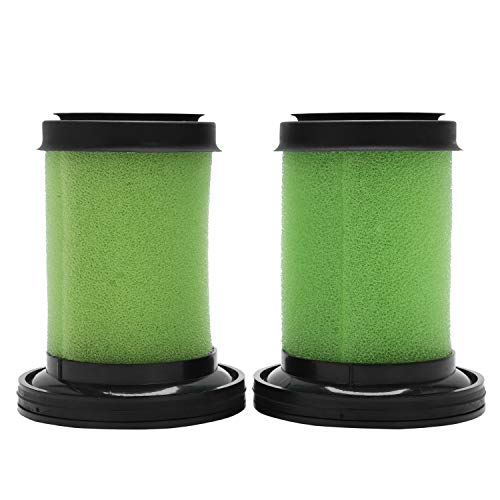 (Mucjun Washable Foam Filters for GTech Multi Cordless Vacuum Cleaner (Green, Pack of 2))