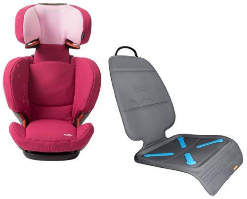 Maxi-Cosi RodiFix Booster Car Seat with Car Seat Guardian Protector, Cerise