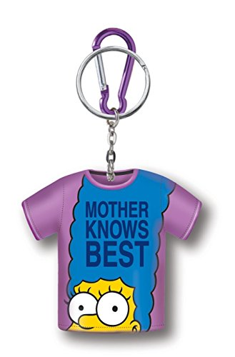 The Simpsons Marge T-Shirt Coin Holder Key Ring (Simpson Tshirt)