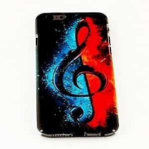 HC-Música patrón signo moda TPU suave para el iphone 6 caso de 4.7 pulgadas