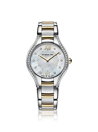 Raymond Weil Noemia Mother Of Pearl Diamond Dial Two Tone Stainless Steel Ladies Watch