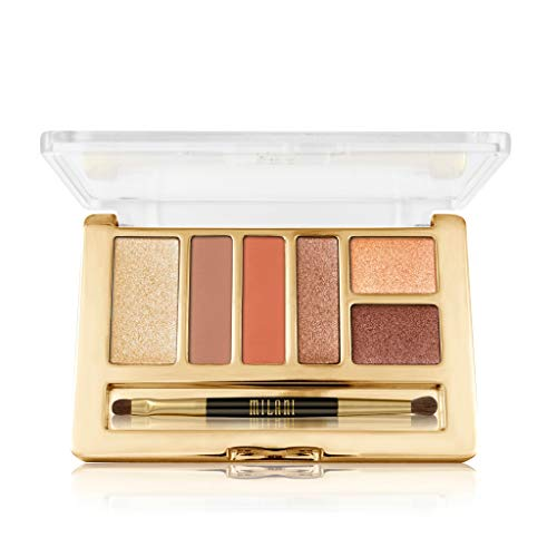 Milani Everyday Eyes Eyeshadow Palette - Earthy Elements (0.21 Ounce) 6 Cruelty-Free Matte or Metallic Eyeshadow Colors to Contour & - Duo Shadow Eye Pot