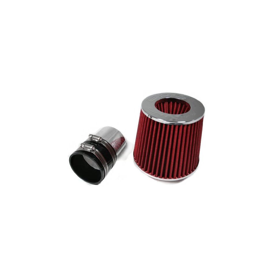 1996 2004 96 97 98 99 00 01 02 03 04 Kia Spectra Sephia 1.6L 1.8L Short Ram Air Intake Kit + Filter By Bomz Racing Black/Red