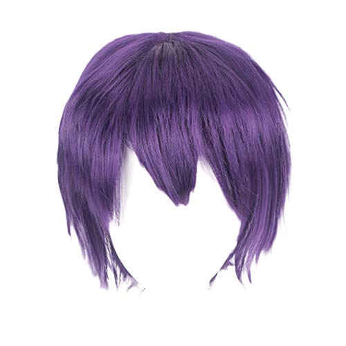 Redvive Top Multi Color Short Straight Hair Wig Anime Party Cosplay Full sell Wigs 35cm -