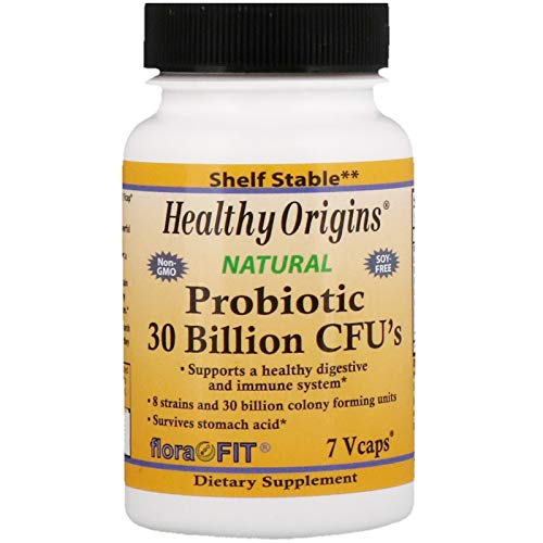 Healthy Origins Probiotic 30 Billion Cfu's 8 Strains Shelf Stable 7 Vcaps, 0.03 Pound