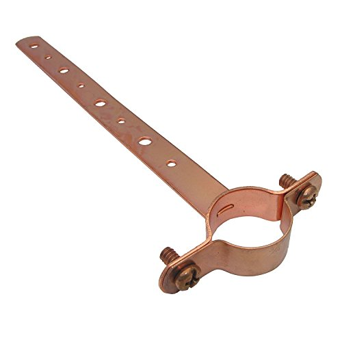 LASCO 13-1880-6 Milford Perforated Copper Pipe Strap with Clamp, 3/4