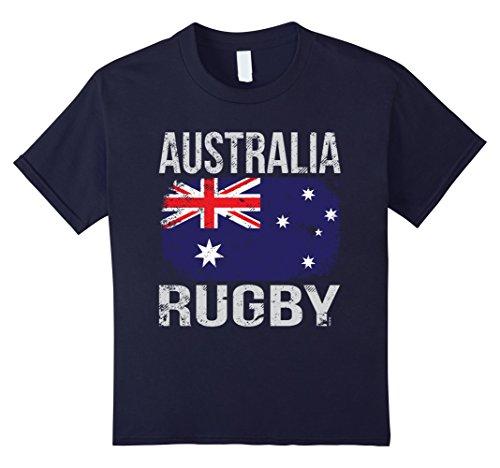 Kids Australia Rugby, Australian Flag T-Shirt 12 Navy - Australian Rugby