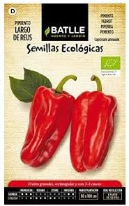 Semillas ECOLÓGICAS huerto lote 10 sobres (Tomate, Pimiento ...