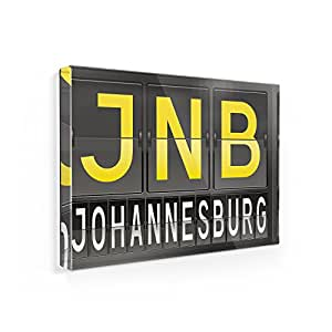 Amazon.com: Fridge Magnet JNB Airport Code for