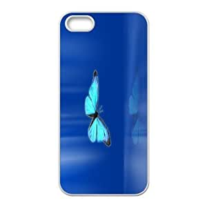 Yo-Lin case FXYL248890Pink blue butterfly protective case cover For Apple Iphone 5 5S Cases