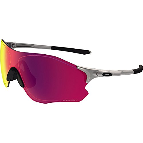 Oakley Men's Evzero Path Non-Polarized Iridium Rectangular Sunglasses, Lead, 38 - Road Prizm Oakley