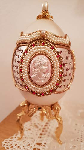 UNIQUE Russian Faberge style egg/Musical Imperial JEWELED egg/Russian Faberge egg JEWEL box style/HANDMADE Fabergé egg style WEDDING/Handmade Faberge style egg/Handmade Faberge egg style - Egg Box Jewel