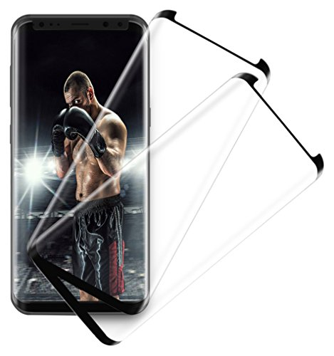 Aexagon rgy-efghgjjjj Full Coverage Premium Tempered Glass Scratch Resistant, HD Clear, 3D Anti-Bubble Screen Film for Galaxy S8 Plus - 2 Piece