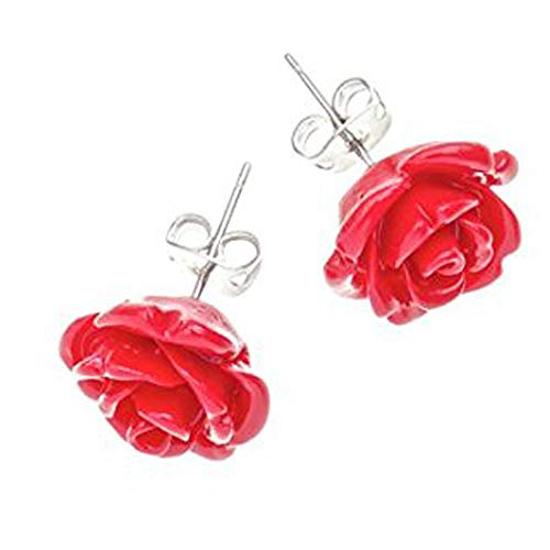 - Tartan Twist, Sterling Silver, Agate & Resin - Robert Burns Red Rose Collection Earrings.